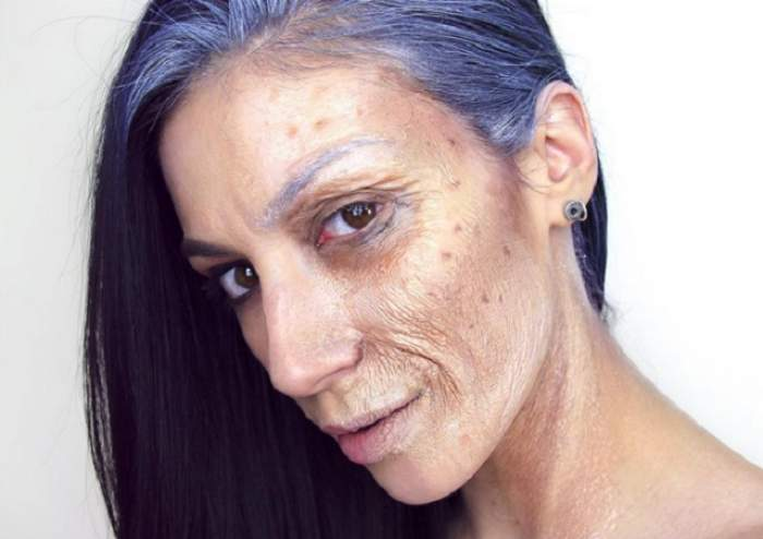 VIDEO / Ea este femeia cu o parte de faţă de 20 de ani şi alta de 70! E incredibil ce a putut face cu propriile mâini