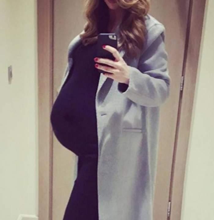 FOTO / Marina Dina a născut, iar noi avem deja primele declaraţii! Ce a spus vedeta după ce a ieşit din sala de naşteri