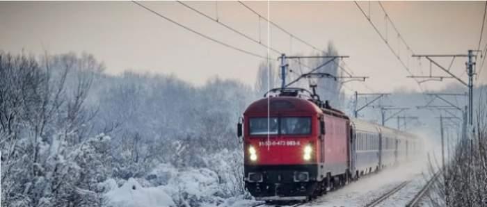 CODUL ROŞU de ninsori face ravagii! 117 localităţi fără energie electrică, 73 de trenuri au fost anulate!