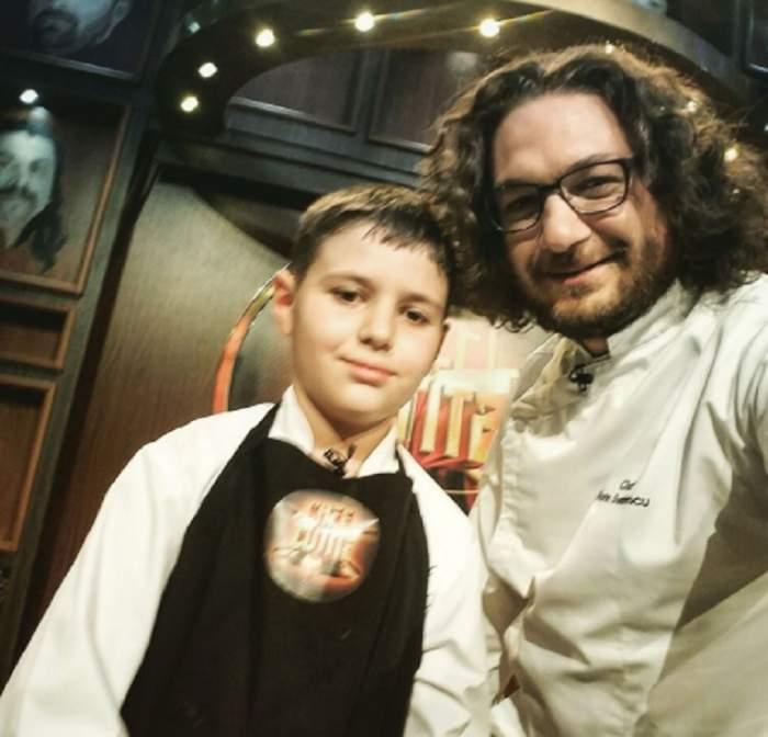 """VIDEO / Florin Dumitrescu, emoționat de copilul de 10 ani care a participat la """"Chefi la cuțite"""": """"Alex, îți mulțumesc!"""""""