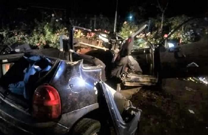 FOTO / Accident tragic în Galați! Un adolescent de 15 ani a murit, alți trei tineri sunt în comă