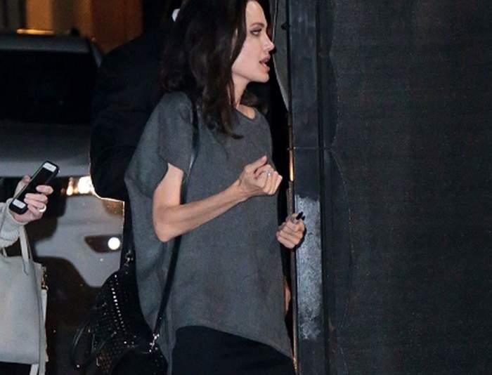 FOTO / Apariţie ŞOCANTĂ a Angelinei Jolie. Actriţa a ajuns să fie piele şi os