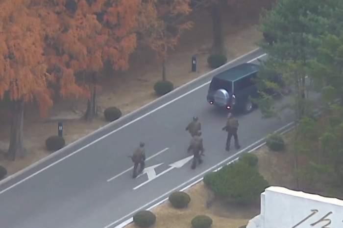 VIDEO / Imaginile dramatice cu momentul în care un soldat a dezertat din Coreea de Nord!