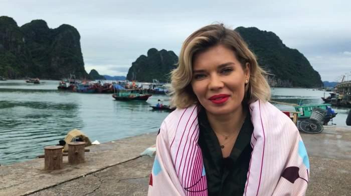 FOTO / Gina Pistol, luată prin surprindere la filmările din Vietnam! Ce a păţit frumoasa moderatoare
