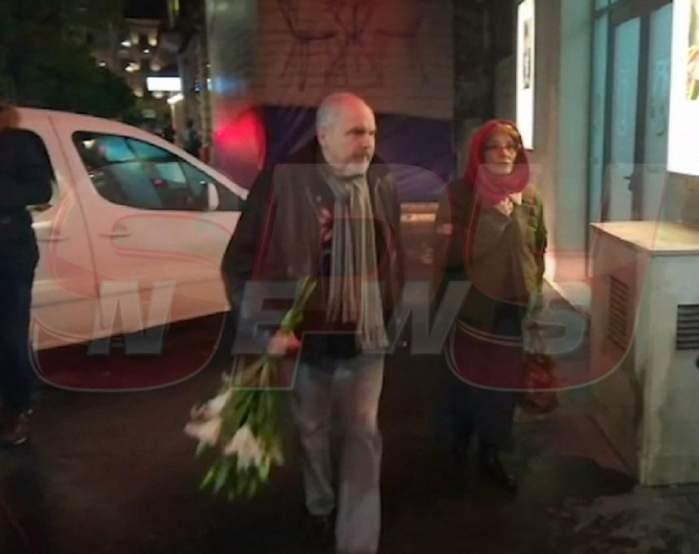 VIDEO / Eugen Cristea, doborât de tristeţe la priveghiul Cristinei Stamate! De cine a fost însoţit