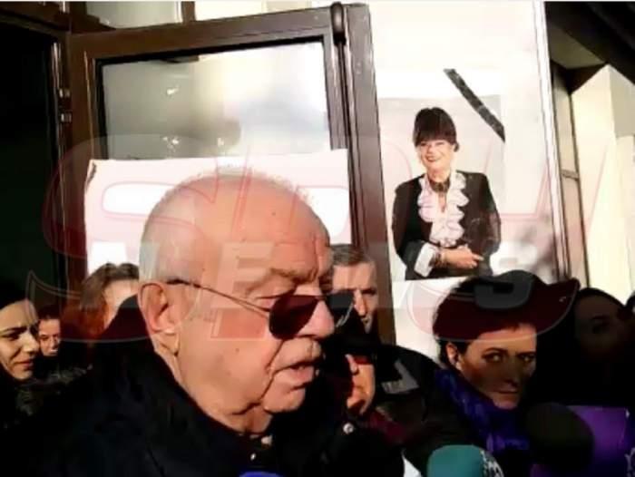 """VIDEO / Alexandru Arşinel, declaraţii triste înainte de înmormântarea Cristinei Stamate: """"Toţi suntem un pic vinovaţi"""""""