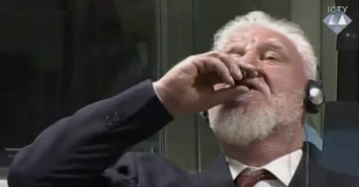 VIDEO / Situație TERIBILĂ în sala de judecată. Un fost general a băut otravă și a murit după ce a aflat sentința