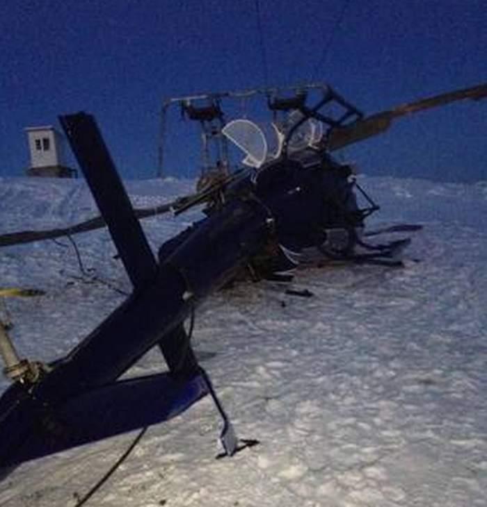 Incident aviatic pe o pârtie de schi din Caraș-Severin. Un elicopter a fost doborât de vânt