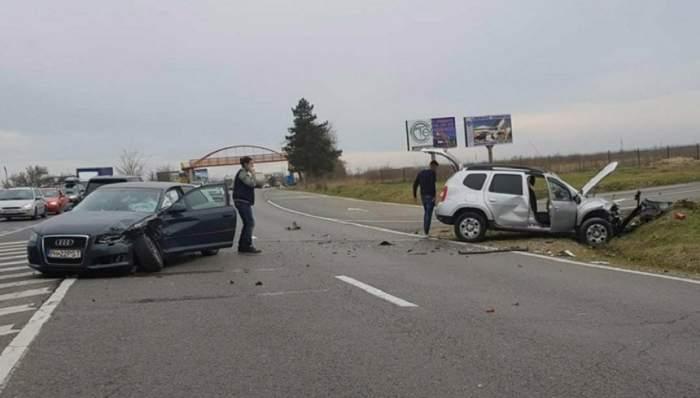 FOTO / Accident grav pe DN1! Sunt cinci victime