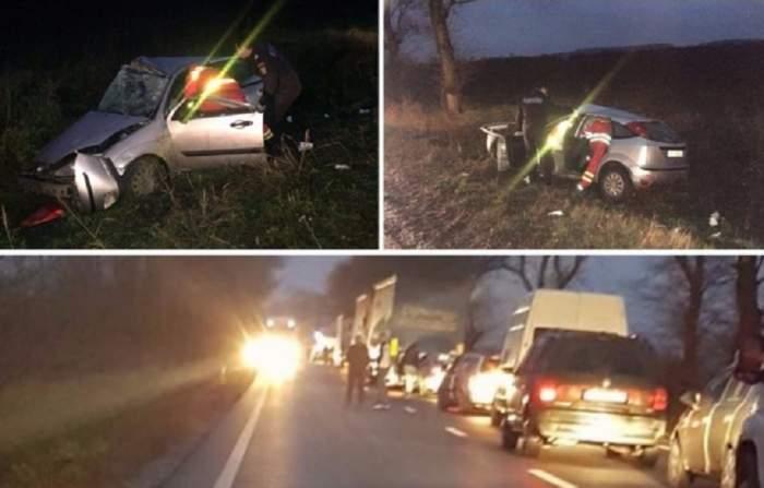 Accident grav în Arad! Doi oameni au murit, după ce o mașină s-a ciocnit cu un TIR