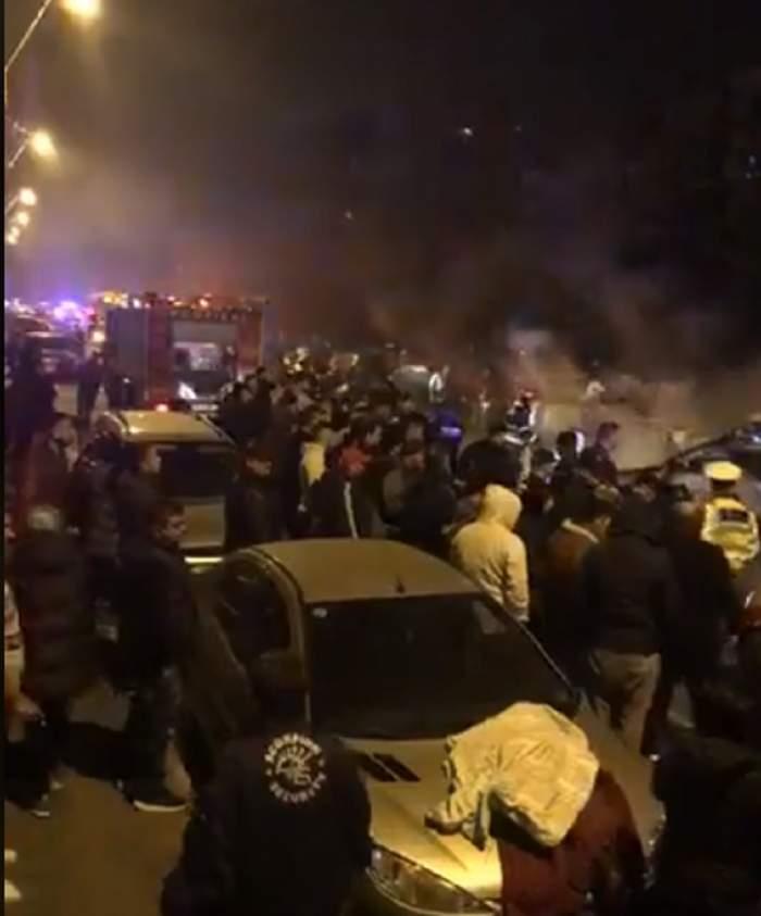 VIDEO / Gestul halucinant al şoferului care a provocat accidentul teribil din Capitală. O femeie a ars de vie