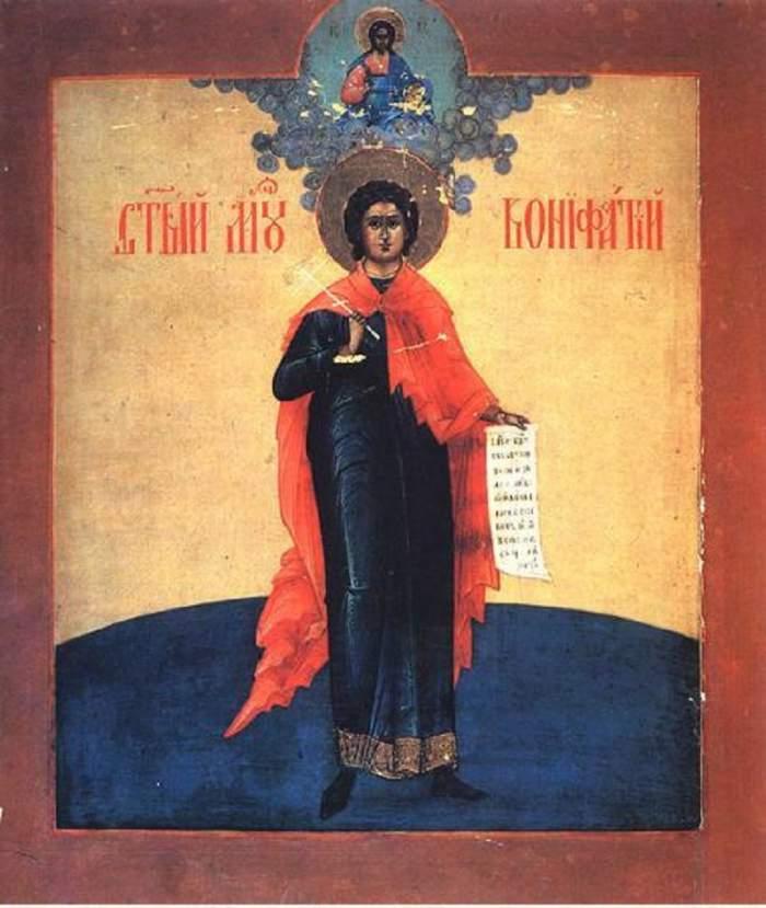 Rugăciunea către Sfântul Mucenic Bonifatie pe care să o spui pentru spălarea păcatelor!