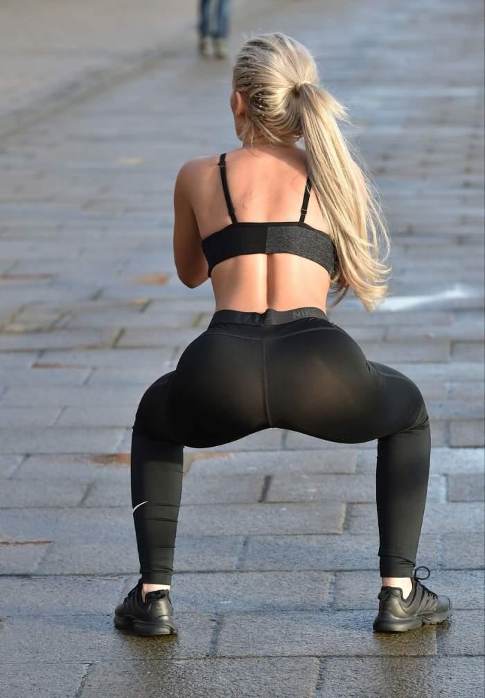 FOTO / Vedetă de televiziune, cu formele apetisante la vedere, în stradă! Cum a fost fotografiată frumoasa blondă