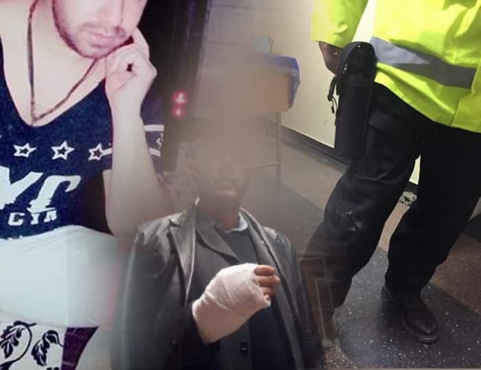 Poliţişti călcaţi în picioare de un interlop, chiar în secţie! Imagini exclusive
