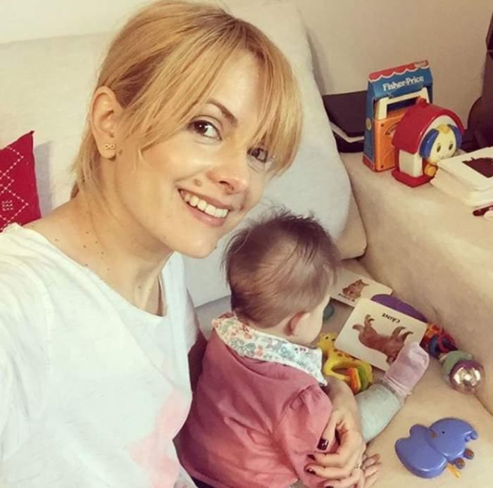 Fotografie de colecţie cu fiica Simonei Gherghe. Cât de adorabilă este micuţa