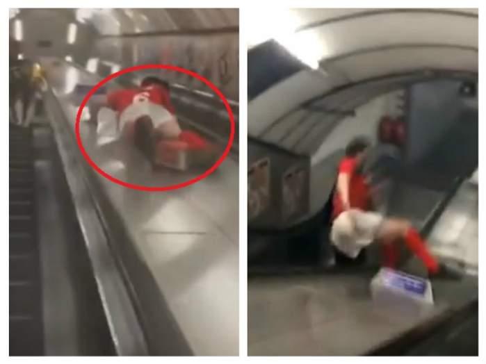 VIDEO HILAR / Să vezi și să rămâi... prost! Cum să NU cobori niciodată scările rulante