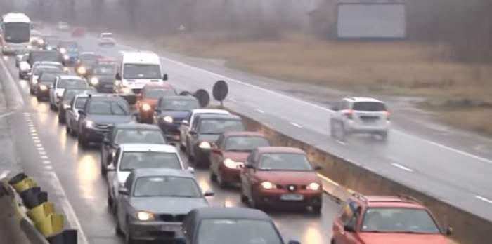 Trafic extrem de aglomerat pe DN1! S-au format coloane de sute de maşini