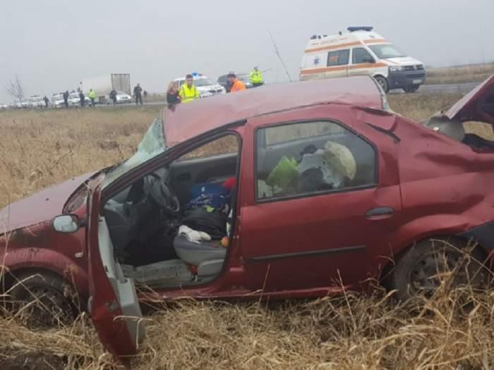 FOTO / Accident grav în judeţul Buzău! Un fost deputat se află în spital