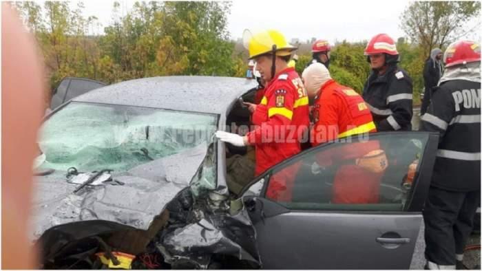 Accident grav în Buzău! Două persoane se află în stare gravă