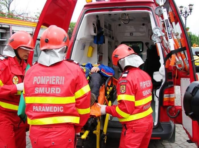 Accident cu 16 răniţi la Cluj! Un microbuz şi un TIR s-au ciocnit
