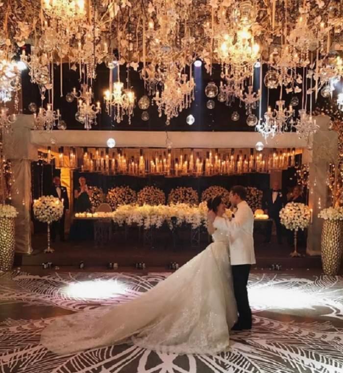 VIDEO de senzaţie / Imagini noi şi spectaculoase de la nunta răsfăţatului milionar din Constanţa! Mireasa e superbă, iar focul de artificii, unic!
