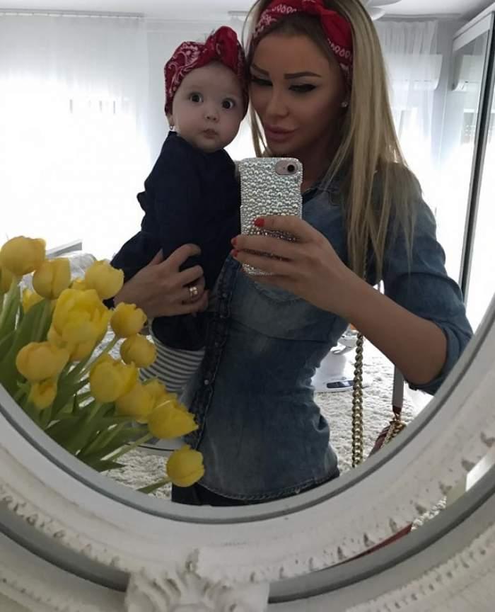 FOTO / Bianca Drăguşanu, mândră nevoie mare de noua colecţie de haine pentru fetiţe! A lansat-o de ziua Sofiei