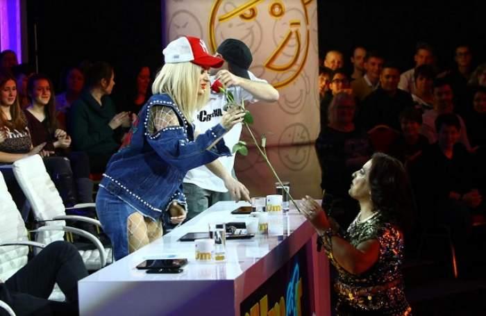 """FOTO / Floricica Dansatoarea îl face pe Cheloo să părăsească platoul """"iUmor"""": """"Nu cred că a venit!"""""""
