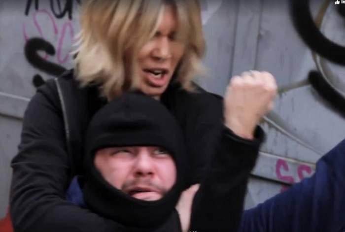 VIDEO / Gina Pistol a snopit un hoț! Imagini cu prezentatoarea TV scoasă din sărite