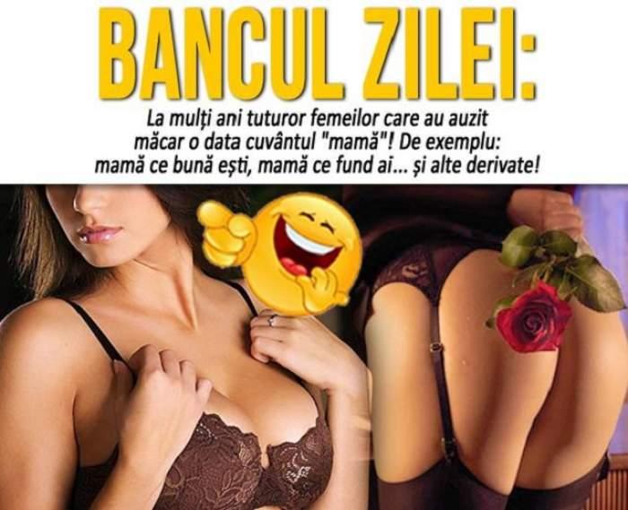 """BANCUL ZILEI - MIERCURI: """"De 8 martie, o doamnă primește un mesaj de la soțul academician..."""""""