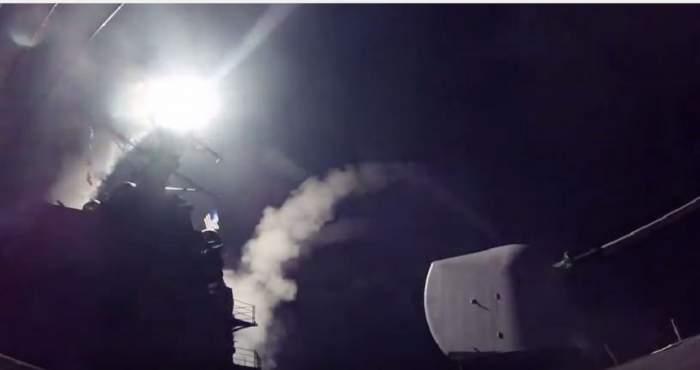 VIDEO / SUA a atacat SIRIA! Imaginile din timpul bombardamentului