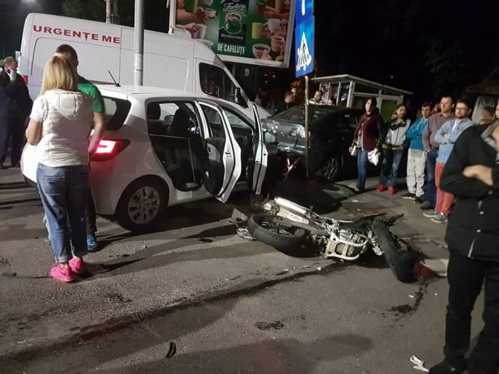 VIDEO / Accident GRAV în Capitală! Un tânăr motociclist se zbate între viață și moarte