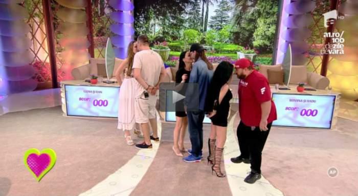 """VIDEO / Provocare inedită, la """"2k1""""! Concurenţii au dansat ţinând un ou crud cu fruntea! Care cuplu a reuşit să NU facă mizerie în platou"""