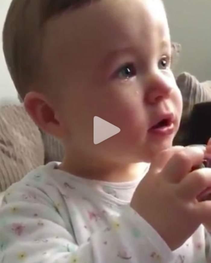 VIDEO / Lacrimile lui sincere au impresionat întreaga lume! Motivul pentru care plânge acest bebeluş te va emoţiona cumplit