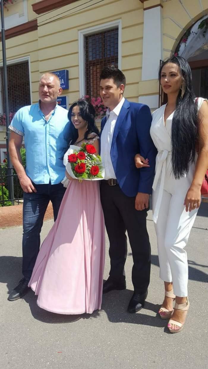 FOTO / Primele imagini de la NUNTA Tinei şi a lui Ray! Fosta concurentă de la MPFM a îmbrăcat rochia de mireasă