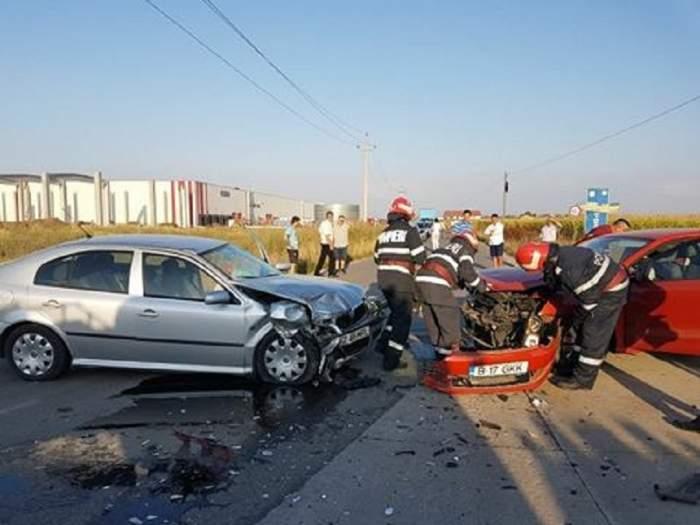 FOTO / Accident grav în Giurgiu! O femeie a murit, alte două sunt în stare gravă