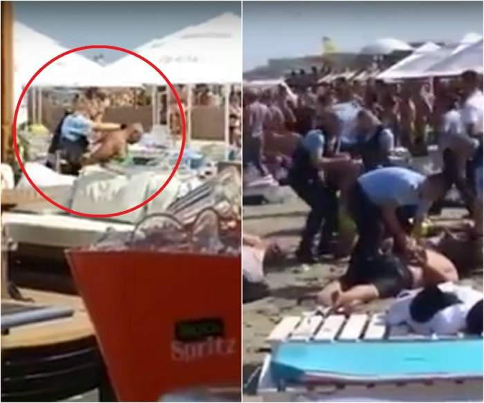 Scandal mostru pe o plajă din Mamaia! Opt interlopi au fost puşi la pământ