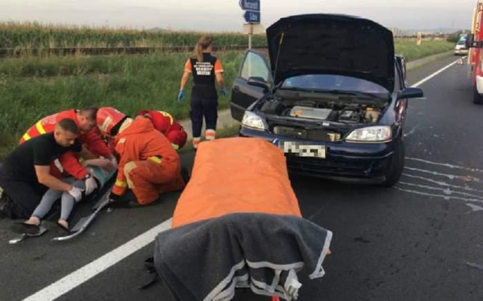 Accident cumplit pe DN1! Printre victime se numără două femei însărcinate şi un copil