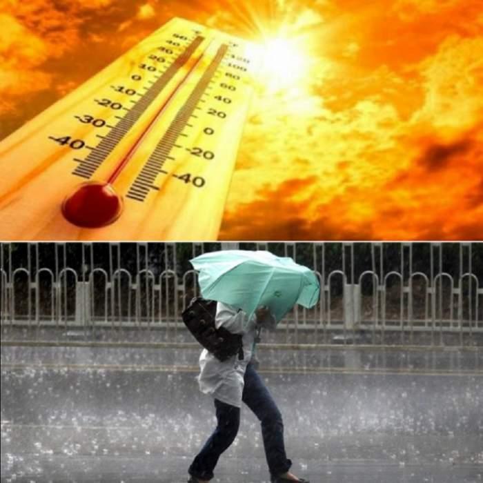 Informare meteorologică de CANICULĂ! Cod galben şi portocaliu de VREME REA