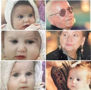 FOTO / Imagini de colecţie cu fiica lui Irinel Columbeanu şi a Monicăi Gabor! Irina creşte şi străluceşte