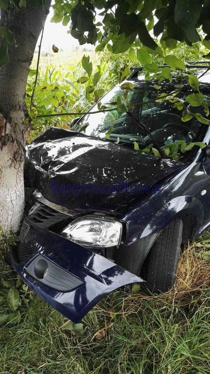 FOTO / Accident grav la Suceava! Polițiștii au rămas șocați când au văzut cine se afla la volanul mașinii