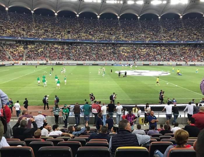 VIDEO / Scandal mare pe stadion la meciul FCSB - Sporting! S-au aruncat cu torțe, iar jandarmii au intervenit de urgență