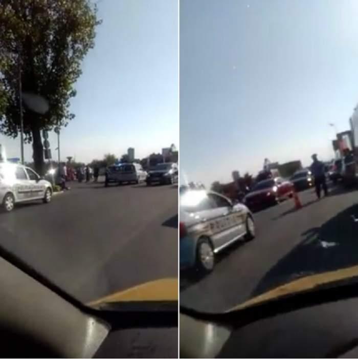 VIDEO / Accident grav în Pipera! Un motociclist a murit