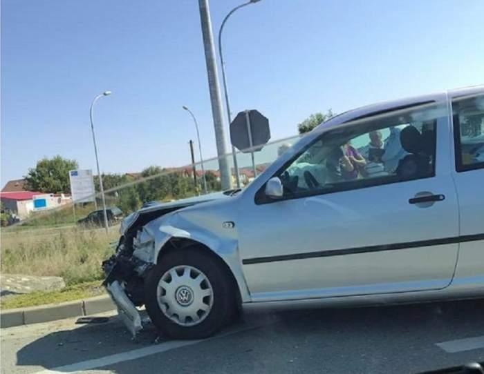 FOTO / Accident pe DN 1! Două handbaliste, victime înainte de marele meci