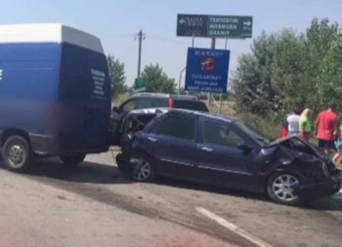 VIDEO / Accident cu 4 mașini pe Autostrada Soarelui! Traficul este blocat