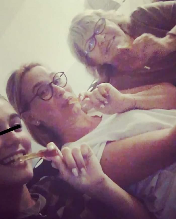 Andreea Esca, selfie cu ochelarii de soare ai fiicei sale! Toţi s-au uitat la cine era în pat