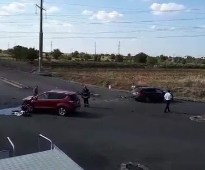 Accident grav în judeţul Olt! Printre victime se află doi copii şi o femeie însărcinată în opt luni