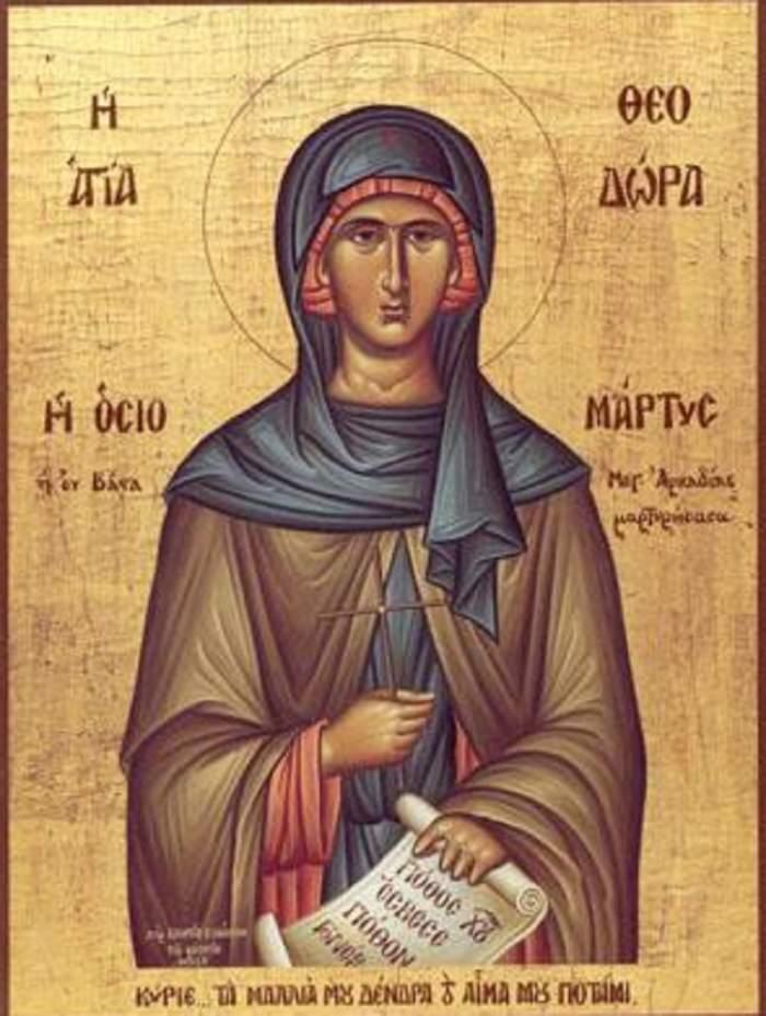 Sărbătoare pentru creştini! Astăzi o prăznuiesc pe Sfânta Teodora din Alexandria
