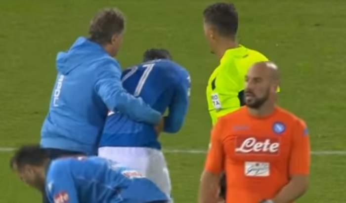 VIDEO / Accidentare HORROR pentru căpitanul echipei naţionale! Vlad Chiricheş, scos pe braţe de pe teren!