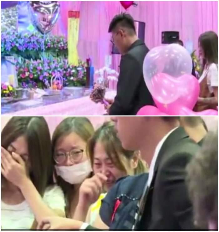VIDEO / Un bărbat s-a căsătorit cu iubita însărcinată care a murit! Femeia încetase din viață înainte de nuntă