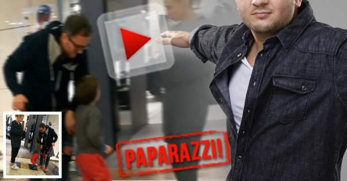 VIDEO PAPARAZZI / E celebru, dar nu mişcă în front în faţa nevestei! Cum e ţinut din scurt un artist de la noi
